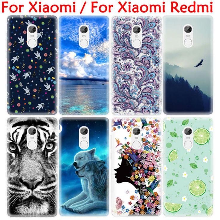 Fashion Tiger Painting TPU Cover Phone Case for Xiaomi Redmi 3 Pro 3S 3X Note 4 3 2 mi5S Plus Mi4i Mi4C Mi4 mi Max Shell