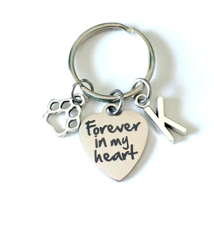 SALE Loss of Dog Sympathy Gift, Forever in my Heart Keychain, Memorial Keyring Key Chain Purse Charm Planner Present Paw Print Canadian Shop by aJoyfulSurprise on Etsy