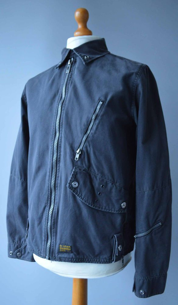 72bcf06f3607 Mens Grey G-Star Raw 3301 Lightweight Rando Canvas Jacket Size M Medium.