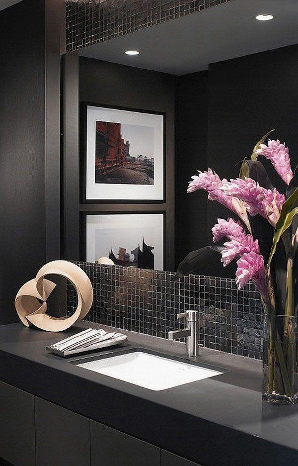 Pics On Contemporary Powder Room Decorating Ideas Powder Room Design Ideas Images Ultra