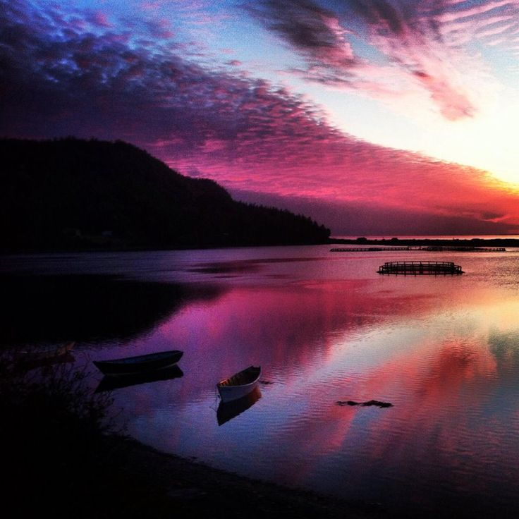 Dark Harbour Sunset, Grand Manan, New Brunswick, Canada by Morgan Guptill