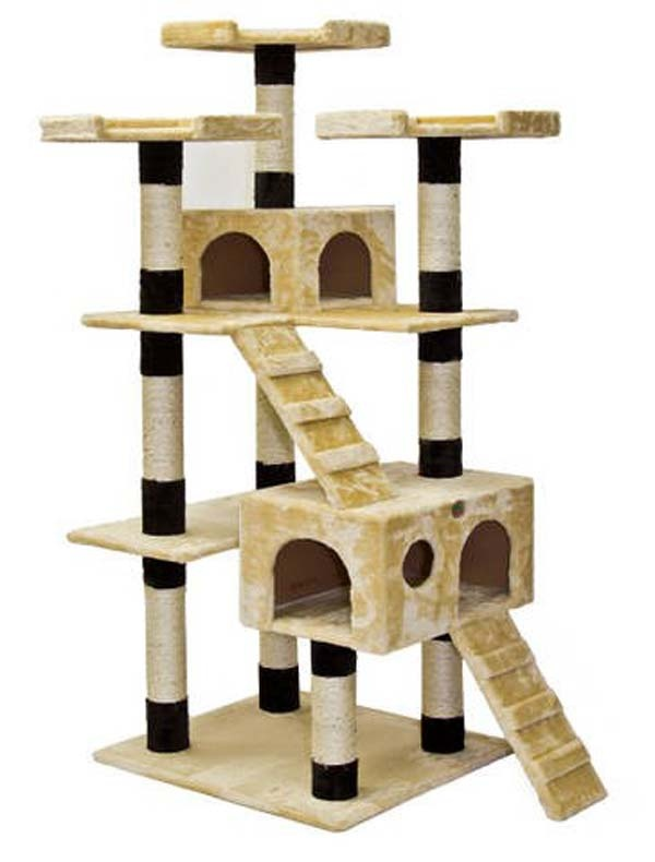 Cat climbing tree house catframe cat tree and cat tower for Epic cat tree