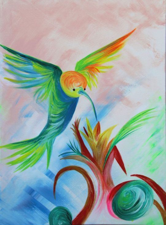 Buy Drinking Hummingbird, Acrylic painting by Silvie Tripes on Artfinder. Discover thousands of other original paintings, prints, sculptures and photography from independent artists. 39 Eur. Original by Silvie Tripes