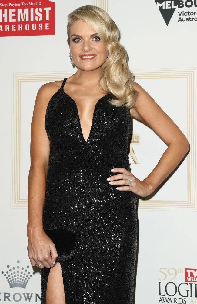 Erin Molan arrives at the 59th Annual Logie Awards in April. Picture: Getty