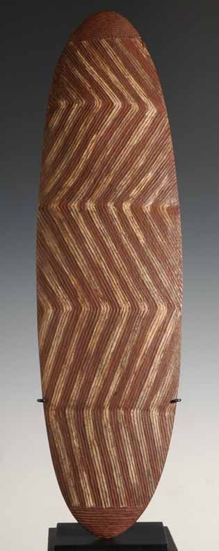 """Predates the styles of 20c Aboriginal canvas"" KB Oceanic Art - Wunda shield"