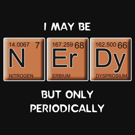 """""""Nerdy (Periodically Speaking)"""" T-Shirts & Hoodies by Samuel Sheats   Redbubble"""