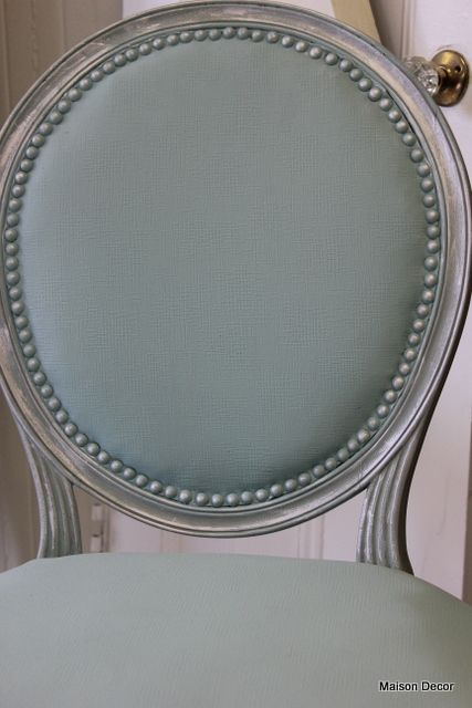 DIY  Maison Decor: Tiffany Blue French Chair ENTIRE CHAIR PAINTED WITH CHALK PAINT!!!!  TUTORIAL