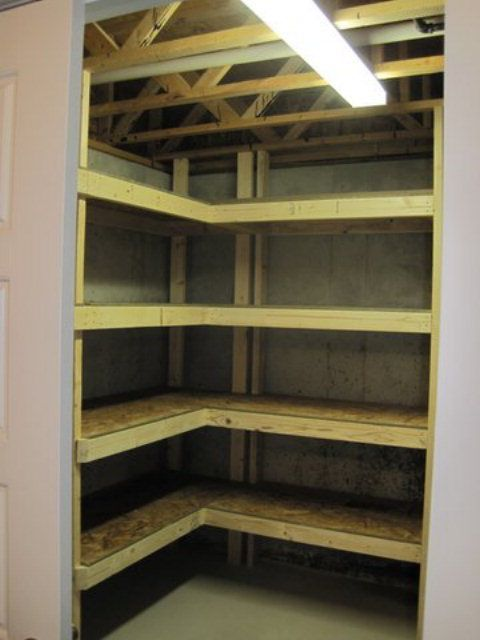 how to make easy wall shelves in a unfinished basement