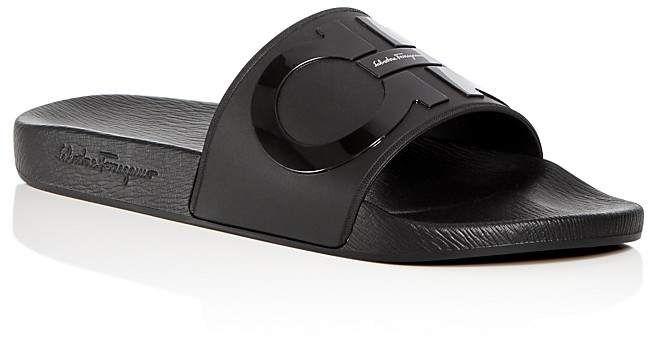 f489804d5384 Men s Groove 2 Original Double Gancini Slide Sandals  signature Ferragamo  Salvatore
