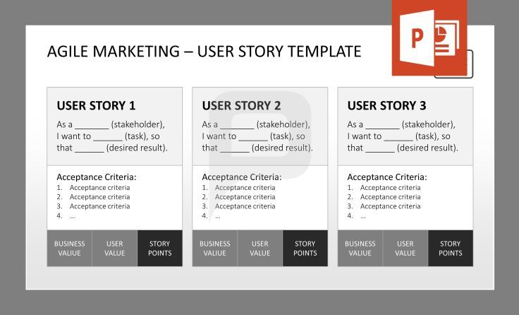 acceptance for value template - agile management bundle always keep the user story in