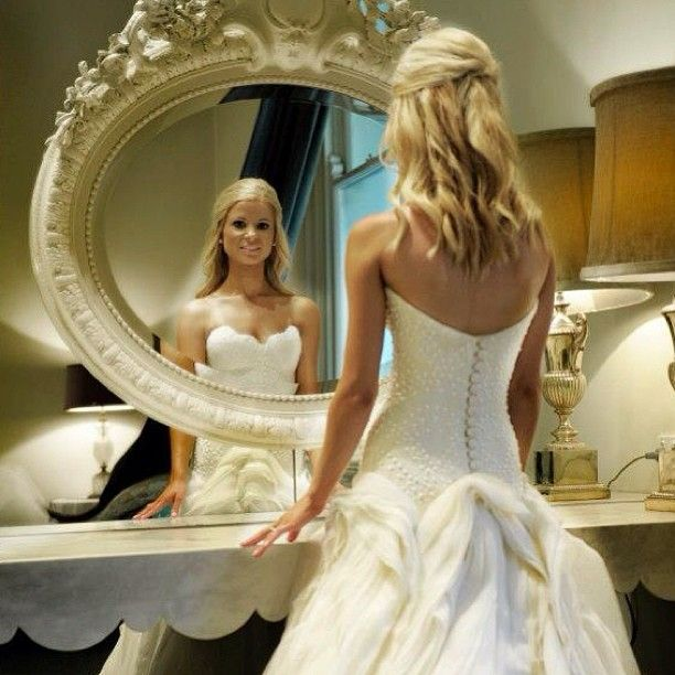 Mirror Mirror on the wall who is the fairest of us all? www.silkandsatinweddings.co.uk