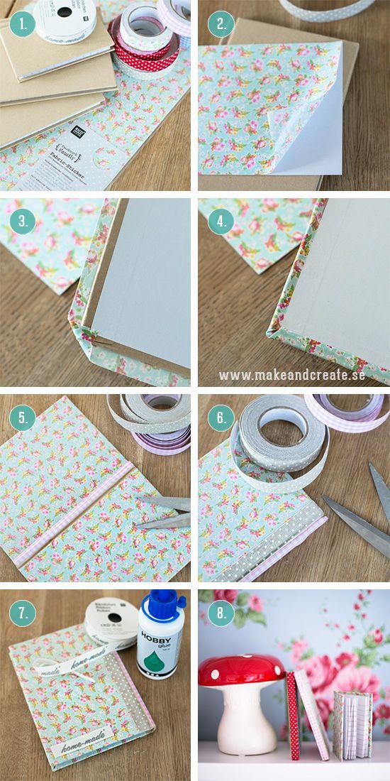 DIY Klä böcker med tyg - Idébank - DIY - Make & Create