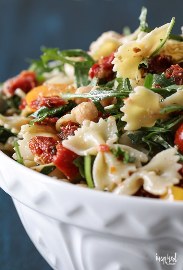 Delicious Sun-Dried Tomato Pasta Salad Recipe #pastasalad #sundried #tomatoes #p…   – Salate