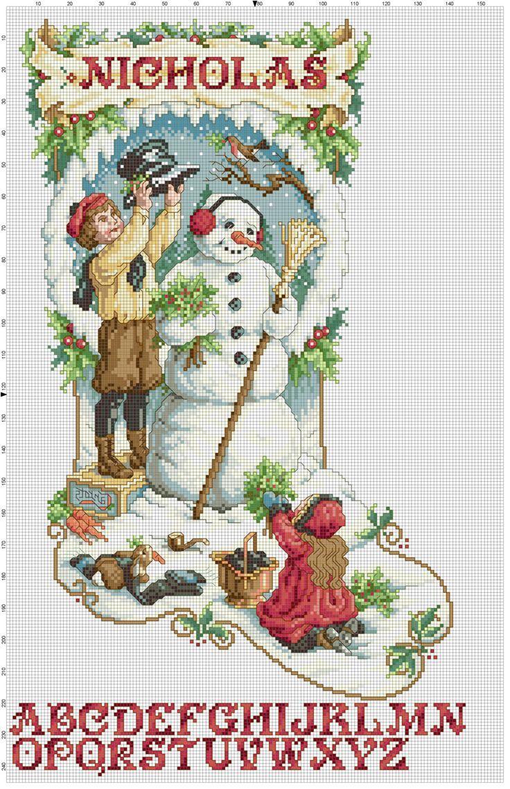 cross stotch christmas stocking  | Victorian Christmas Stocking Counted Cross Stitch by Berwickbay, $2.00