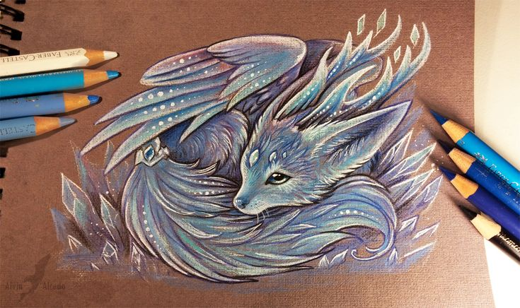 Crystal fox spirit by AlviaAlcedo.deviantart.com on @DeviantArt