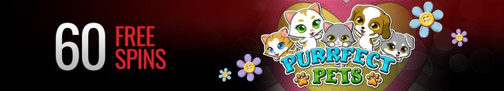60 Free Weekend Spins on Purrfect Pets Slot at Casino Extreme