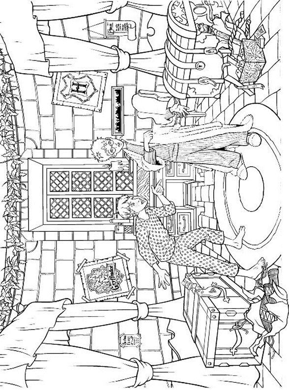 Les 25 meilleures id es de la cat gorie coloriage harry potter sur pinterest harry potter - Coloriage harry potter ...