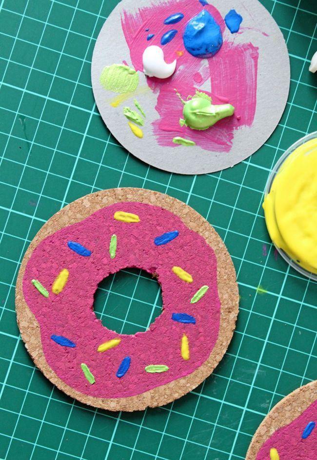 DIY Donut Coasters | HelloNatural.co