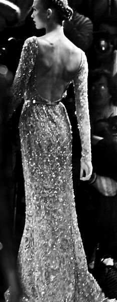 Elie Saab — the only problem with a backless gown is...nobody knows quite where to put their hand when they're ushering you....