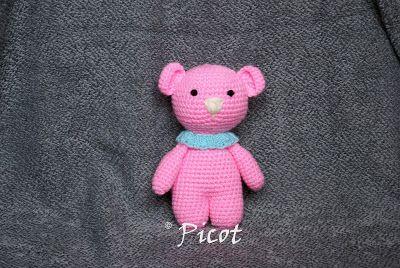 Picot - Szydełkowe Inspiracje: Mały miś i trochę o robótkach