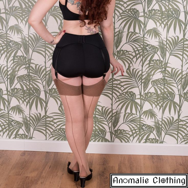 Glamour Seamed Stockings in Champagne and Latte