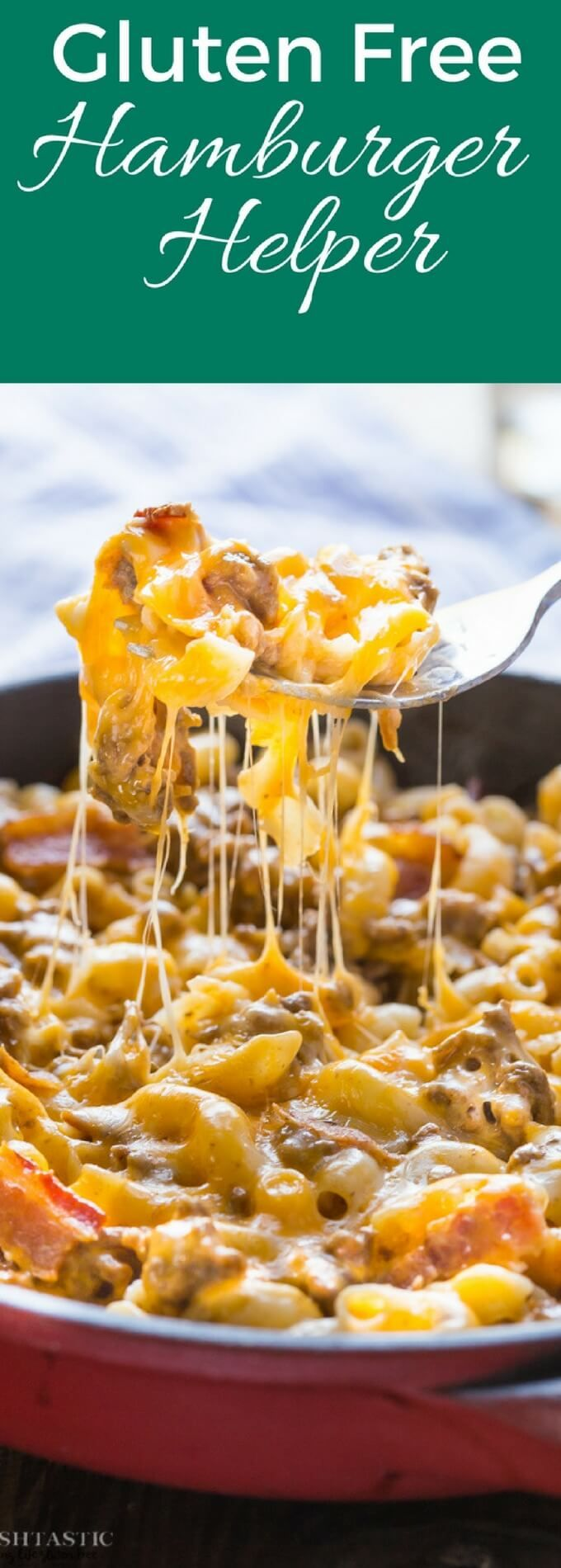 Insanely delicious healthy Gluten Free Hamburger Helper recipe! all the flavors of a bacon cheeseburger but in a skillet, my family absolutely LOVE it!