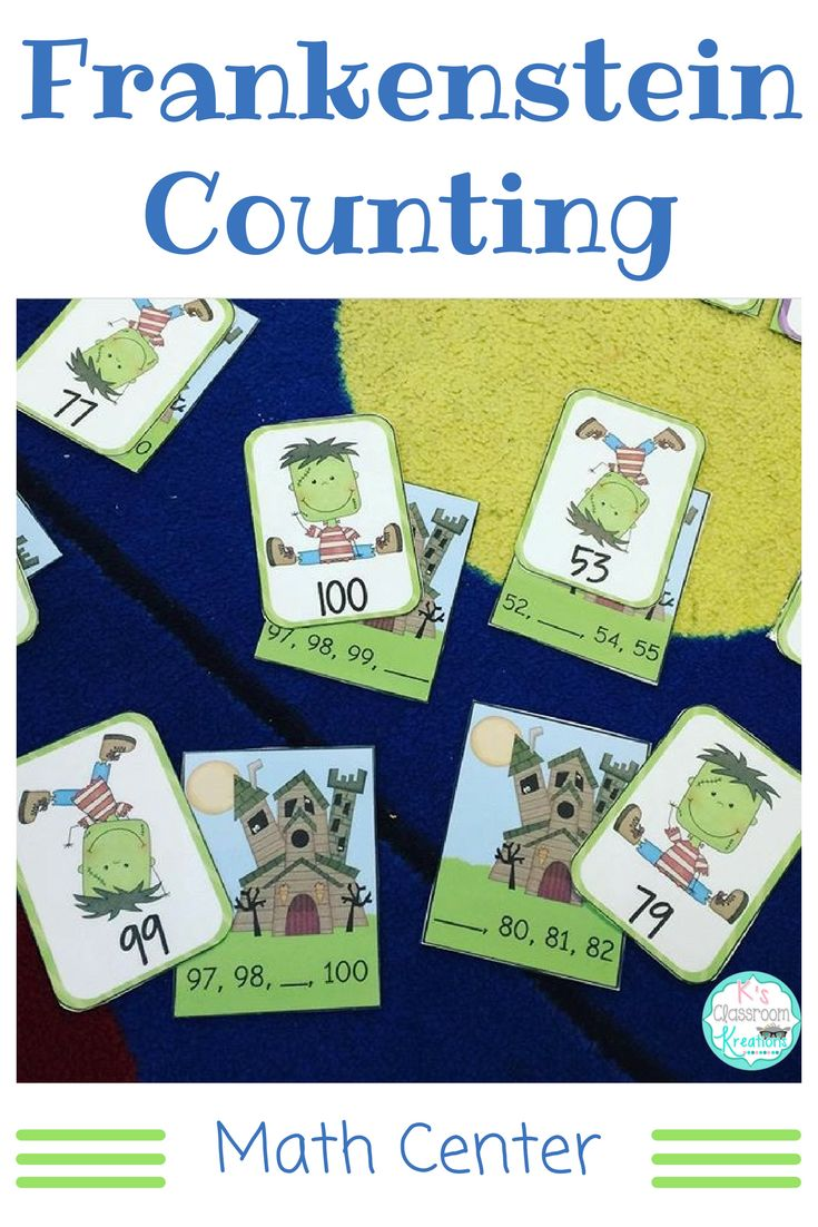 Practice counting to 100 with this Halloween math center. Match Frankenstein to the haunted house while building number sense skills.