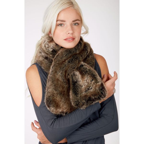 Faux Fur and Cable Knit Reversible Scarf | Stella & Dot | Stella & Dot via Polyvore featuring accessories, scarves, fake fur shawl, fake fur scarves, faux fur shawl, cable knit scarves and cable knit shawl