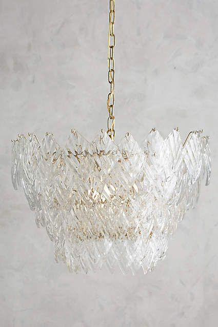 Glass Frond Chandelier - anthropologie.com