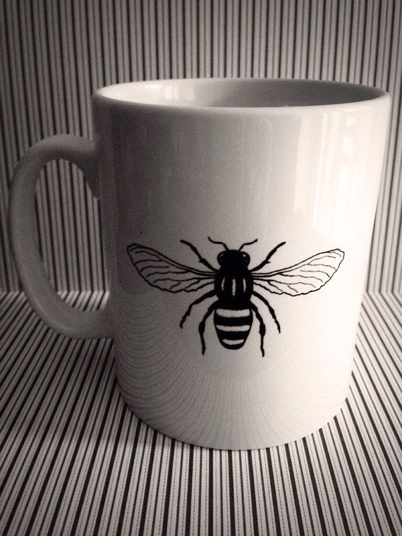 Manchester Worker Bee Mug by TheManchesterBee on Etsy, £8.00