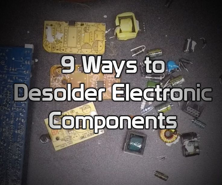 In this instructable, I'll show you 9 different methods for taking electronic components off of circuit boards. Whether you're repairing boards or salvaging parts, it's a necessary skill. This video quickly shows 4 methods.