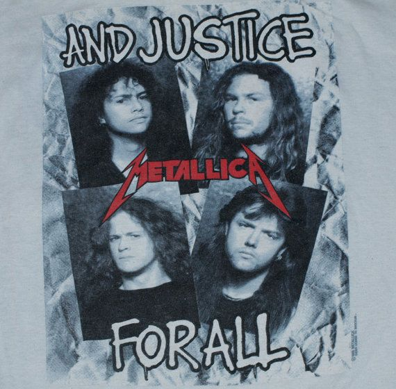 Vintage 1988 80s Metallica And Justice For All Concert Tour T-Shirt