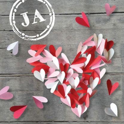 trouwkaart hart van hartjes - Trouwkaarten - Kaartje2go