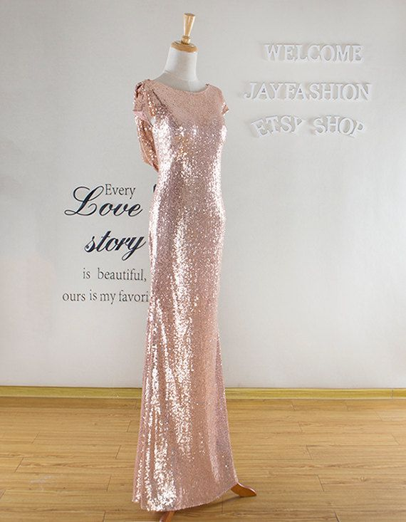 Gold Sequined Prom Dress 2016Long Formal DressGold by jayfashion