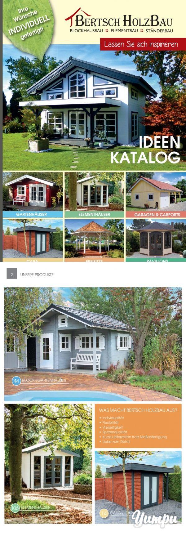 Bertsch Gartenhäuser - Lassen Sie sich inspirieren - Gartenhäuser, Elementhäuser, Blockhäuser, das alles ist mit dem Programm der Firma Bertsch realisierbar. Auch individuelle Lösungen sind möglich