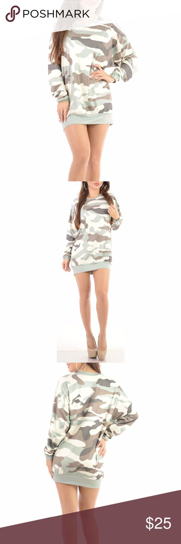 Sexy Short Camo Top Dress Print Military Club Look Model is wearing a small and the exact same style. Close up shows fabric quality-Color difference is lighting. Brand new with tag!  Small=size 2,3,4  Medium= size 5,6,7  Large= size 8,9,10  Fabric has stretch & Fit is similar to styles @ Hello Molly, ASOS, Showpo ,Hot Miami Styles, Sabo Skirt , NBD, Lulus ,Tobi, Touch Dolls, Great Glam, Fashion Nova & Nasty Gal b801  Visit my closet for more Styles!  *Click Add to bundle on two or more…