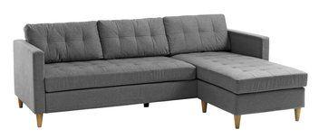 Sofa m/sjeselong FALSLEV grått stoff | JYSK