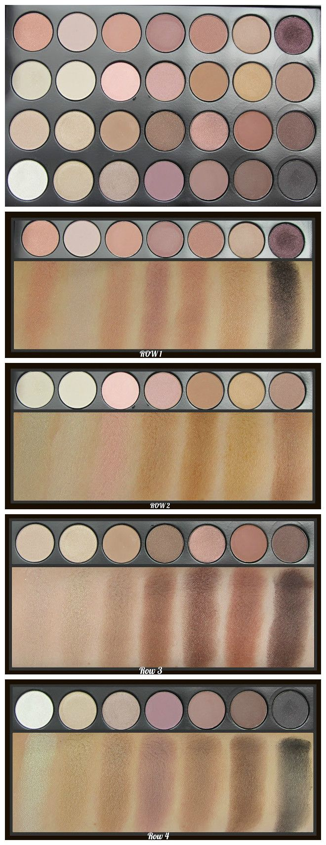 Bh cosmetics 28 neutral palette review swatches for Modern neutrals palette