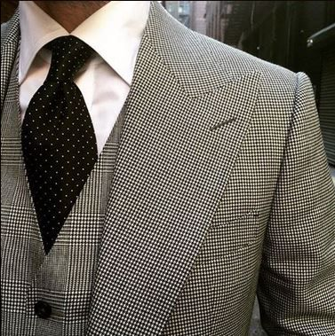 Black And White Houndstooth Shirt Mens