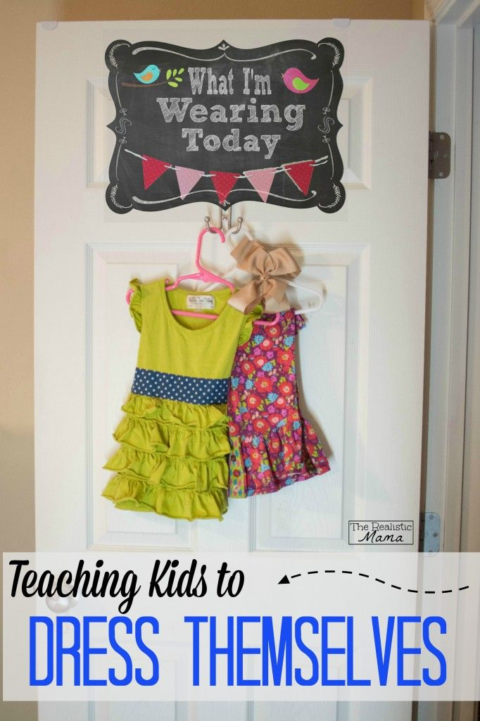Cute idea for helping kids learn to dress themselves. This post has 5 other great tips too!