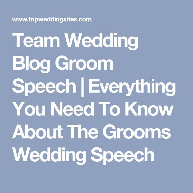 Team Wedding Blog Groom Speech