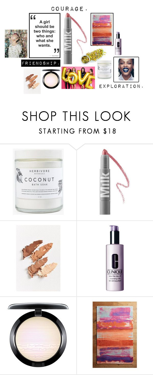 """""""Beauty project"""" by emily-hutchin on Polyvore featuring beauty, Herbivore, MILK MAKEUP, Clinique, MAC Cosmetics, Anthropologie and The Gypsy Shrine"""