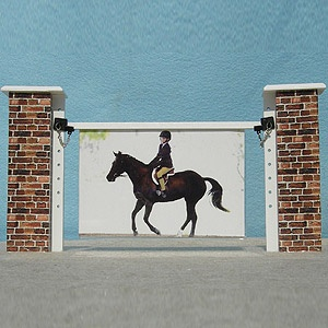 Cute picture frame...perhaps I can DIY something similar from my old model horse jumps??