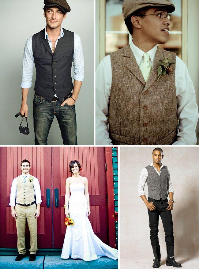 GROOMS MODERN WEDDING ATTIRE | Groom Style: A Vest | Green Wedding Shoes Wedding Blog | Wedding ...