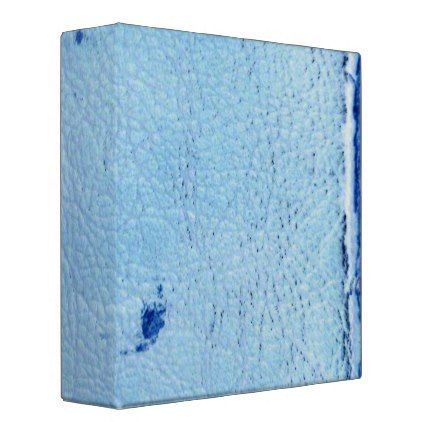 #rustic - #Vintage Blue Leather 3 Ring Binder