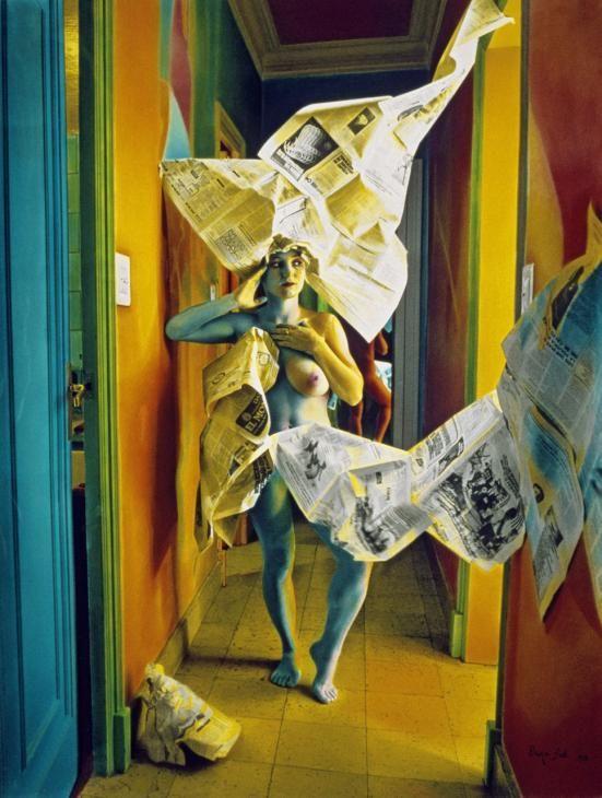 © Ouka Leele - Naked with newspapers