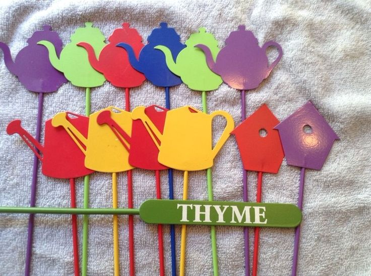Set of 13 Garden Plant Markers Tags Metal | eBay