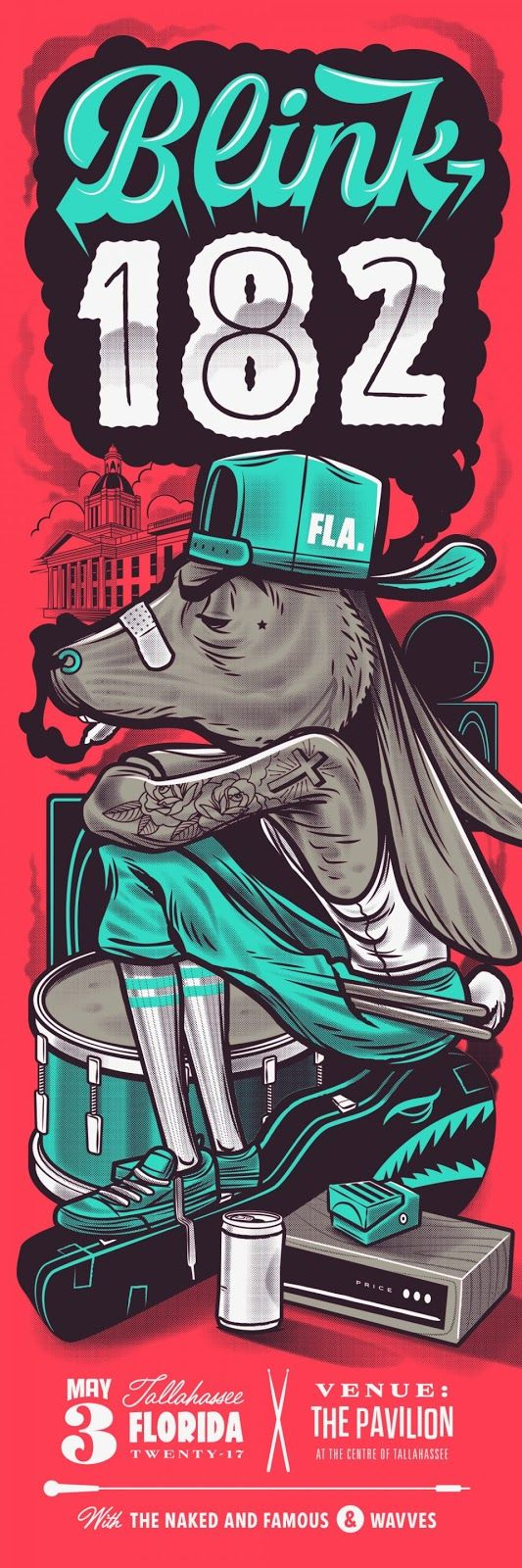 blink 182 Tallahassee Posters by Travis Price
