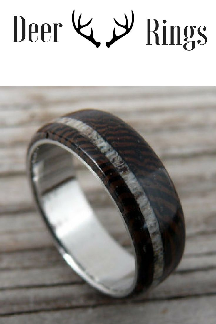 Mens Dark Wood Deer Antler Wedding Ring My Future Husband Would Love One  Of These