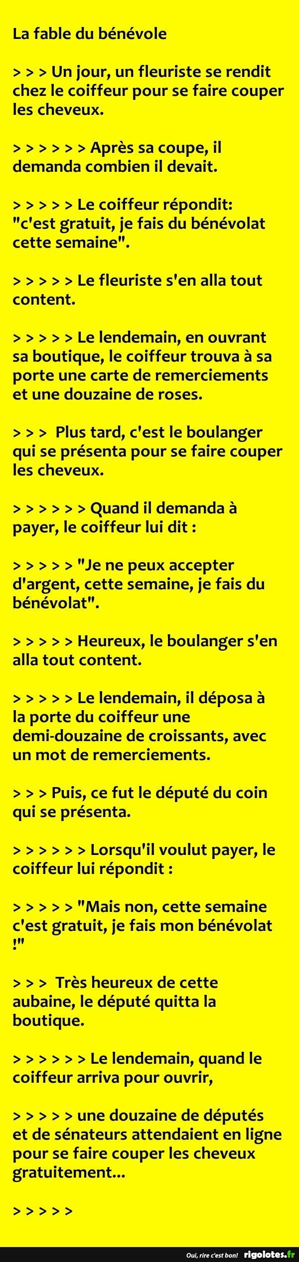 La fable du bénévole... - RIGOLOTES.fr